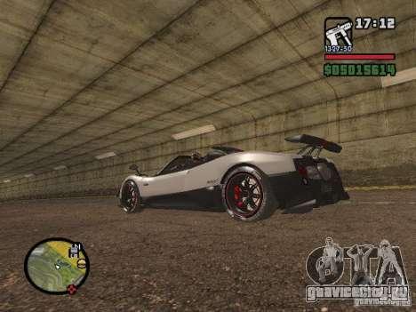 Pagani Zonda Cinque Roadster V2 для GTA San Andreas вид слева
