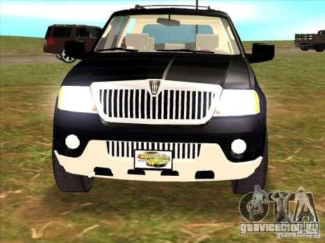 Lincoln Navigator для GTA San Andreas вид сзади