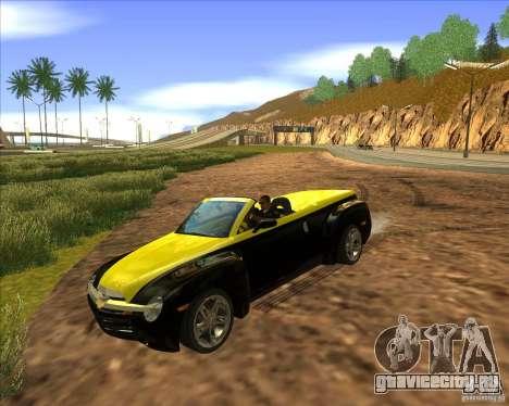 Chevrolet SSR для GTA San Andreas вид сзади