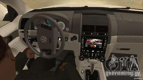 Volkswagen Touareg R50 для GTA San Andreas вид сбоку