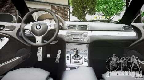 BMW M3 e46 v1.1 для GTA 4 вид снизу