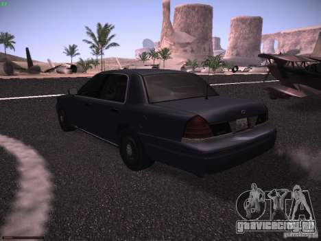 Ford Crown Victoria 2003 для GTA San Andreas вид сзади слева