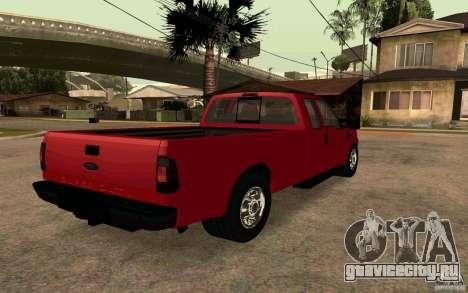 Ford F250 Super Dute для GTA San Andreas вид сзади слева