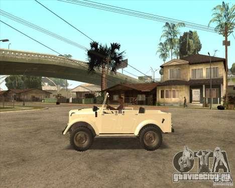 ГАЗ 69А для GTA San Andreas вид сзади слева