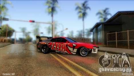 Toyota Supra HELL для GTA San Andreas вид сзади слева
