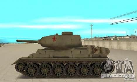 Танк T-34-85 для GTA San Andreas вид слева
