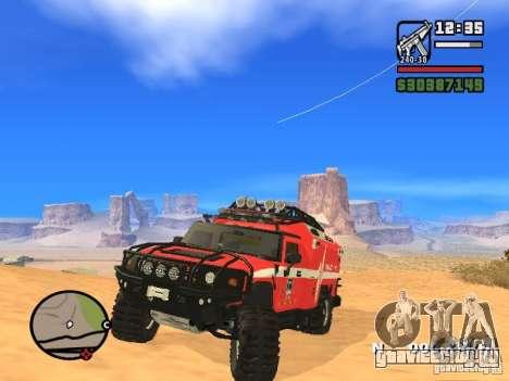 HZS Hummer H2 для GTA San Andreas вид справа