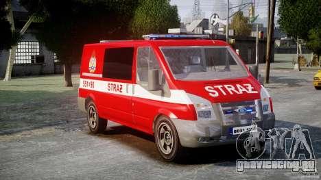 Ford Transit Polish Firetruck [ELS] для GTA 4 вид справа