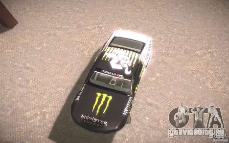 Ford Mustang Monster Energy для GTA San Andreas вид сзади слева