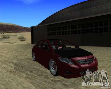 Toyota Corolla 2008 Tuning для GTA San Andreas вид сзади слева