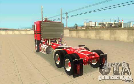 Kenworth K100 Extended Wheel Base для GTA San Andreas вид сзади слева