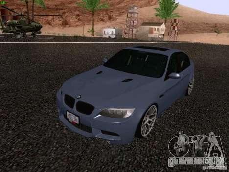 BMW M3 E90 Sedan 2009 для GTA San Andreas вид справа
