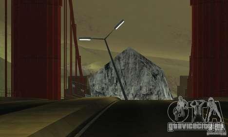 Разрушенный мост в San Fierro для GTA San Andreas пятый скриншот