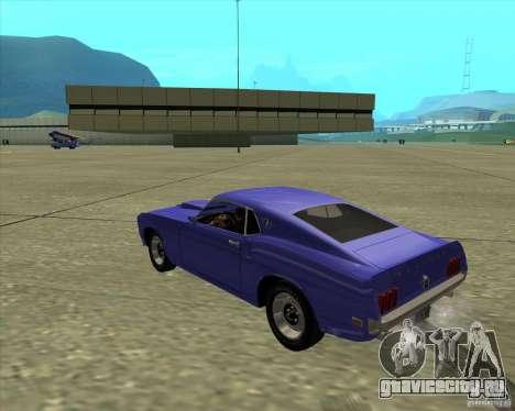 Ford Mustang Boss 429 1969 для GTA San Andreas вид справа