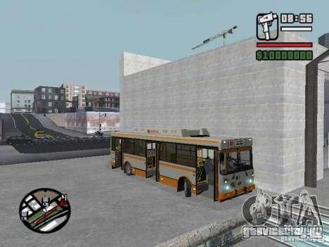 ЛИАЗ 5283.70 для GTA San Andreas вид изнутри