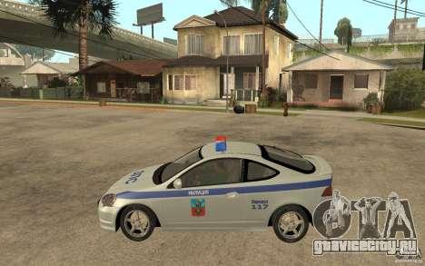 Acura RSX-S ДПС Barnaul City для GTA San Andreas вид слева