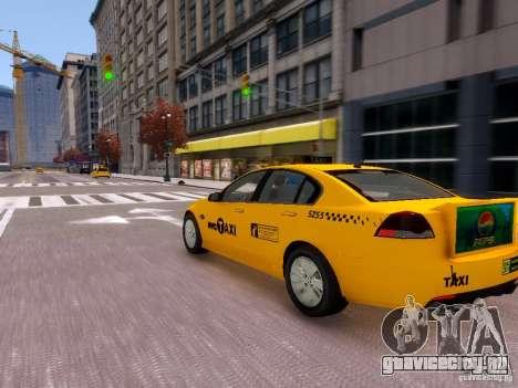 Holden NYC Taxi V.3.0 для GTA 4 вид сзади