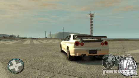 Nissan Skyline GTR R34 Mine s для GTA 4 вид слева