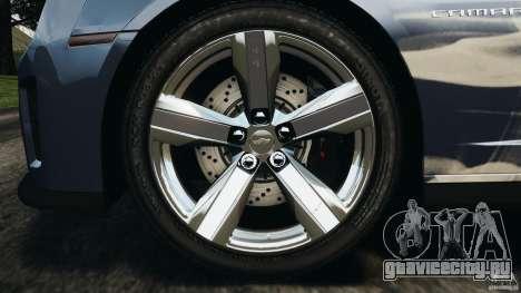 Chevrolet Camaro ZL1 2012 v1.0 Smoke Stripe для GTA 4 вид снизу