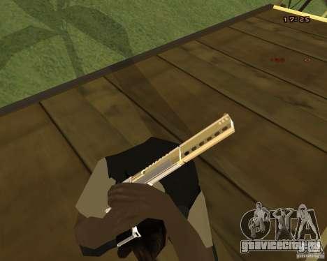 Chrome Desert Eagle для GTA San Andreas третий скриншот