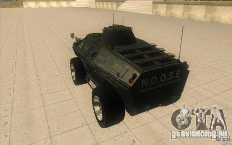 БТР из GTA 4 With Original TBOGT Texture для GTA San Andreas вид сзади слева