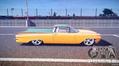 Chevrolet El Camino Custom 1959 для GTA 4 вид изнутри