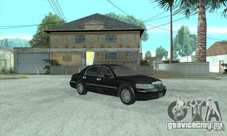 Lincoln Town Car 2002 для GTA San Andreas вид сзади слева