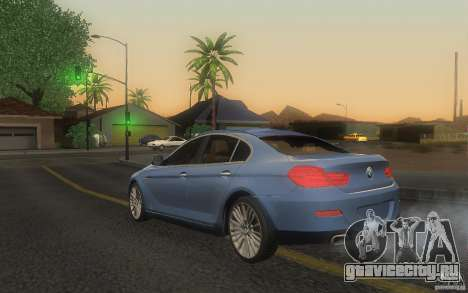 BMW 6 Series Gran Coupe 2013 для GTA San Andreas вид слева