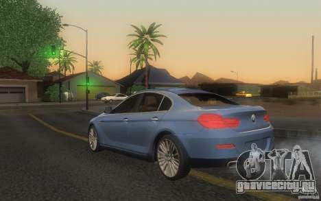 BMW 6 Series Gran Coupe 2013 для GTA San Andreas вид слева