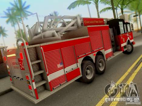 Pierce Tower Ladder 54 Chicago Fire Department для GTA San Andreas вид справа