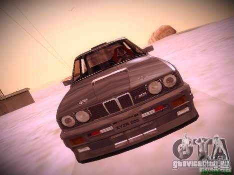 BMW M3 Drift для GTA San Andreas вид сзади слева