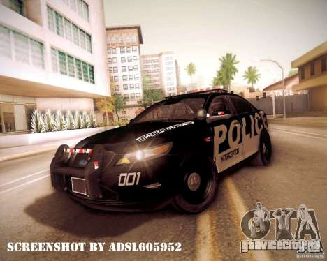 Ford Taurus Police Interceptor 2011 для GTA San Andreas