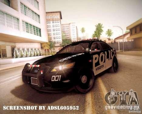 Ford Taurus Police Interceptor 2011 для GTA San Andreas