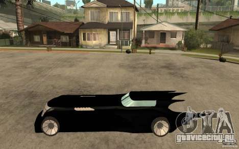 Batmobile Tas v 1.5 для GTA San Andreas вид слева