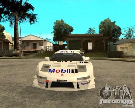 2001 Honda Mobil 1 NSX JGTC для GTA San Andreas вид сзади