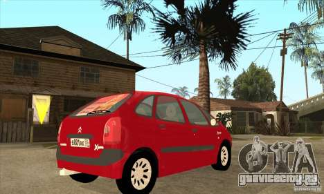 Citroen Xsara Picasso для GTA San Andreas вид справа