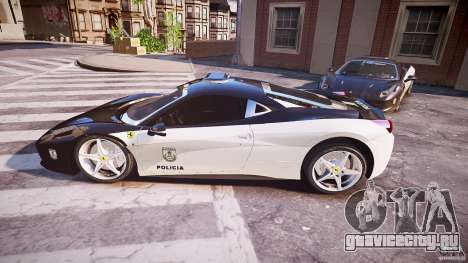 Ferrari 458 Italia - Brazilian Police [ELS] для GTA 4 вид слева