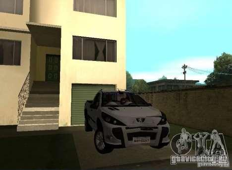 Peugeot Hoggar Escapade 2010 для GTA San Andreas вид справа