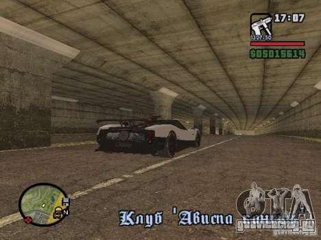 Pagani Zonda Cinque Roadster V2 для GTA San Andreas вид сзади слева