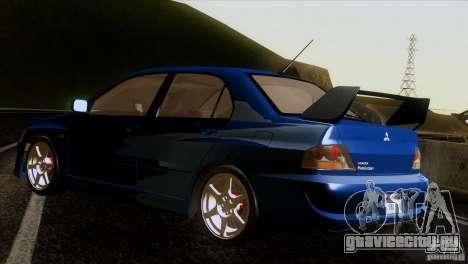 Mitsubishi Lancer Evolution IIIV для GTA San Andreas вид сзади слева