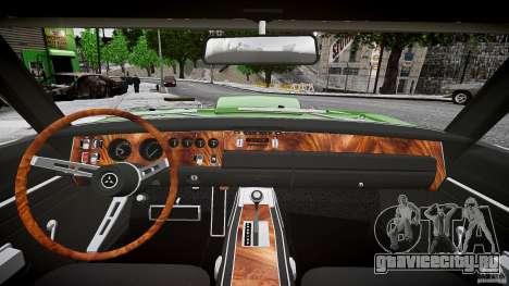 Dodge Charger RT 1969 tun v1.1 лоу райд для GTA 4 вид сверху