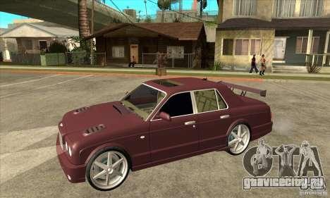 Bentley Arnage GT для GTA San Andreas вид изнутри