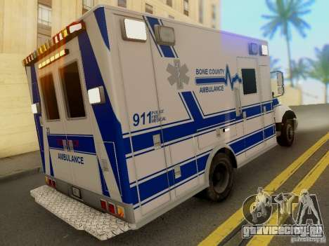 Freightliner Bone County Police Fire Medical для GTA San Andreas вид слева
