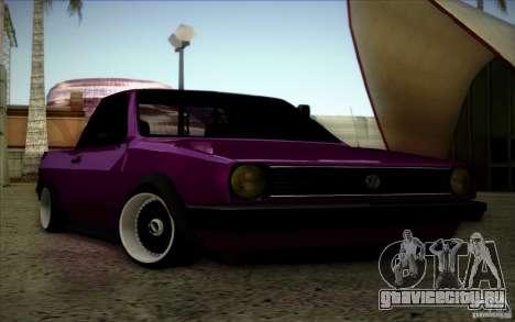 Volkswagen Polo Pickup для GTA San Andreas вид изнутри