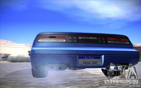 Nissan 300ZX Twin Turbo для GTA San Andreas вид изнутри
