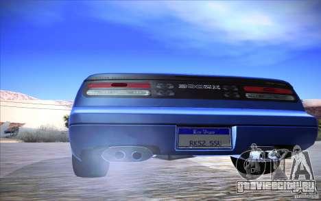 Nissan 300ZX Twin Turbo для GTA San Andreas вид изнутри