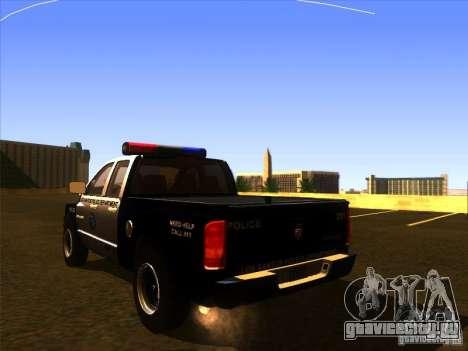 Dodge Ram 1500 Police для GTA San Andreas вид слева