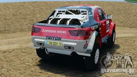 Mitsubishi L200 Triton для GTA 4 вид сзади слева