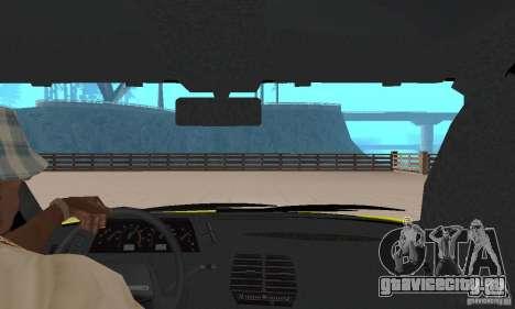 ВАЗ 21124 ТАКСИ для GTA San Andreas вид сзади