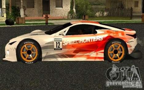 Lexus LFA Speedhunters Edition для GTA San Andreas вид слева